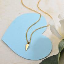 Collares de Acero Inoxidable para Mujer -SSNEG142-28849