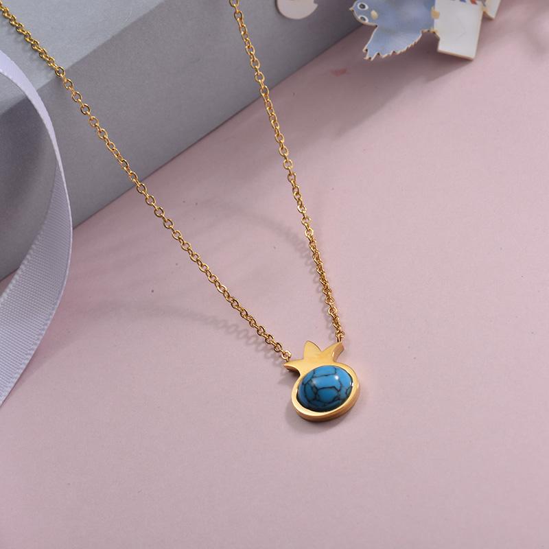 Collares de Acero Inoxidable para Mujer -SSNEG143-28896