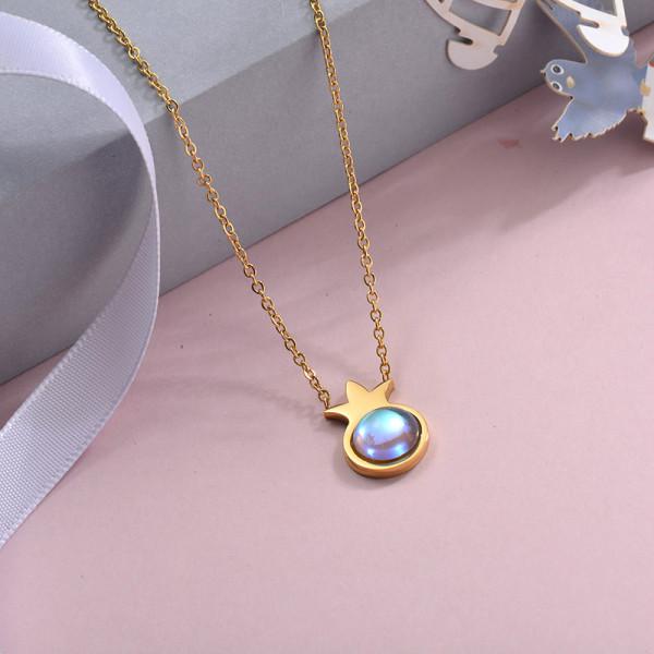 Collares de Acero Inoxidable para Mujer -SSNEG143-28891