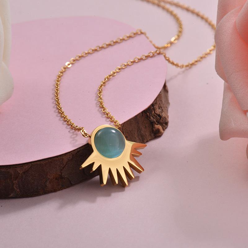 Collares de Acero Inoxidable para Mujer -SSNEG143-28898