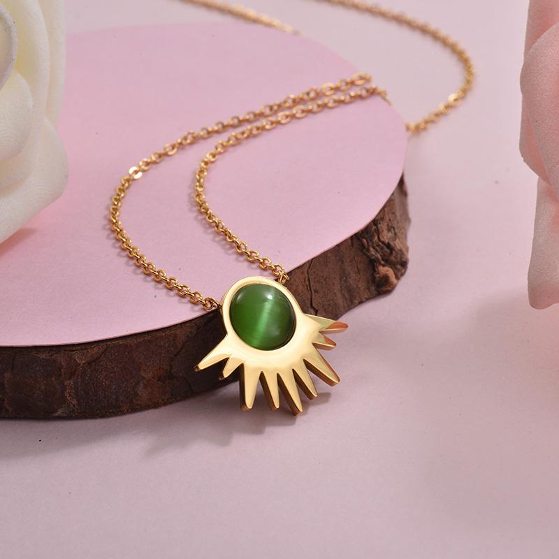 Collares de Acero Inoxidable para Mujer -SSNEG143-28899