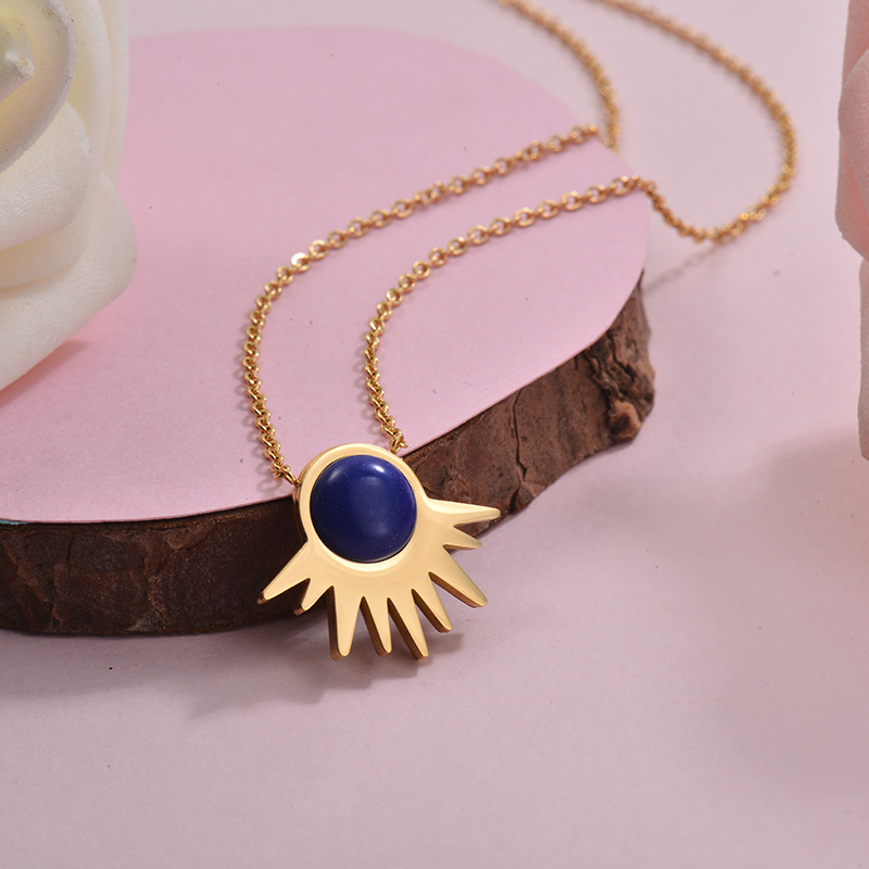 Collares de Acero Inoxidable para Mujer -SSNEG143-28905