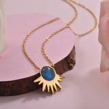 Collares de Acero Inoxidable para Mujer -SSNEG143-28904