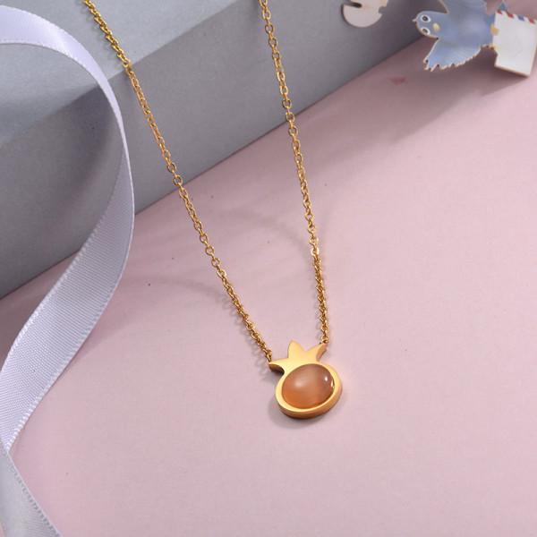 Collares de Acero Inoxidable para Mujer -SSNEG143-28895