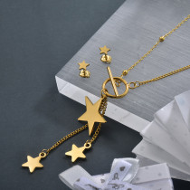 Stainless Steel Star Tassel Jewelry Sets for Girls