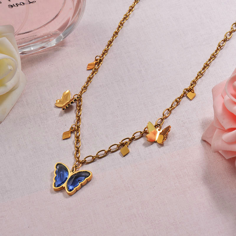 Charm Crystal Butterfly Necklace