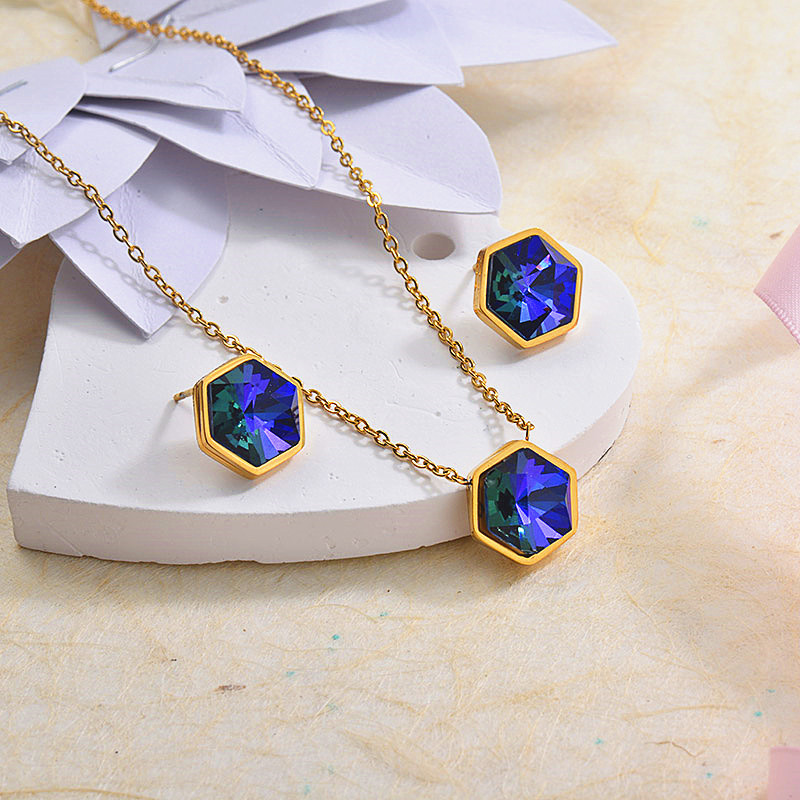 Stainless Steel Crystal Jewelry Sets