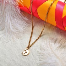 Wholesale Dainty Stainless Steel Moon and Star Necklaces for Women