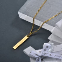 Wholesale Stainless Steel Rectangle Dainty Necklace