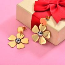 18K Gold Plated Flower Statement Earrings