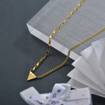 Wholesale Stainless Steel Triangle Dainty Necklace