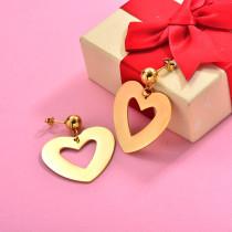 18K Gold Plated Heart Statement Earrings