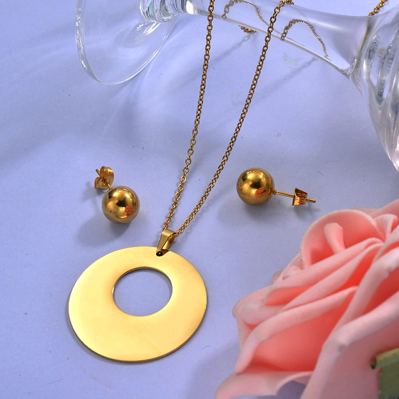 Wholesale Stainless Steel Necklace Sets with Earirng Jewelry Sets