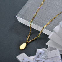 Wholesale Stainless Steel Geometric Drop Dainty Necklace
