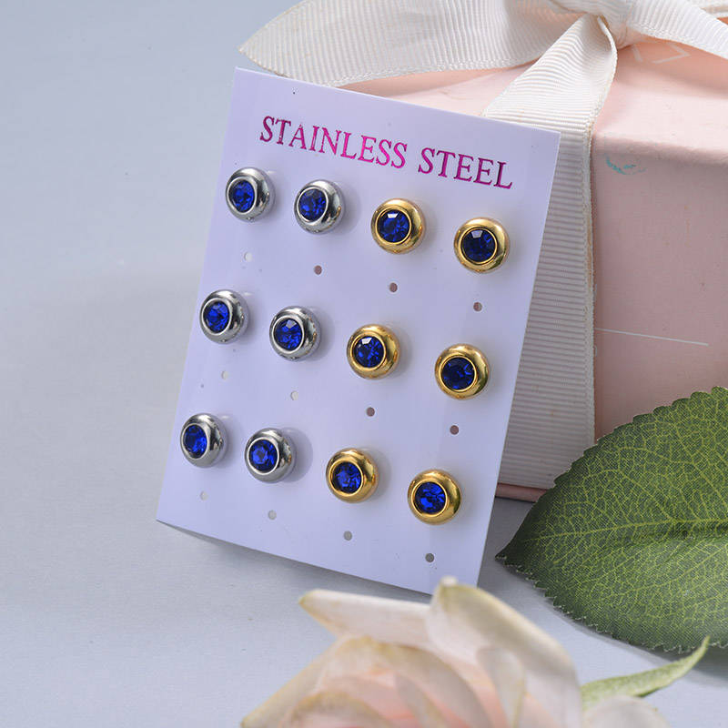 Stainless Steel Earring Sets -SSEGG126-29413