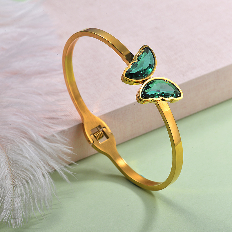 Stainless Steel Butterfly Cuff Bangles -SSBTG143-29250