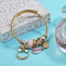 Brass Charm Bangle Bracelets for Women -BRBTG89-29383