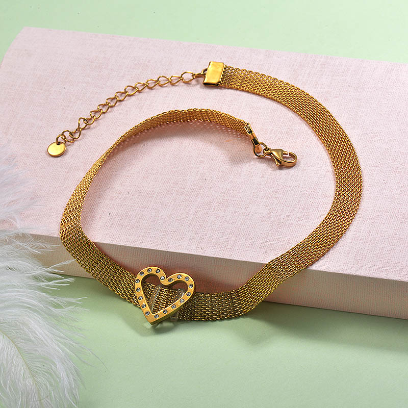 Stainless Steel Choker Necklace -SSNEG142-29247