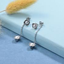 Stainless Steel Drop Earrings -SSEGG126-29436