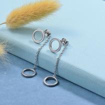 Stainless Steel Drop Earrings -SSEGG126-29434