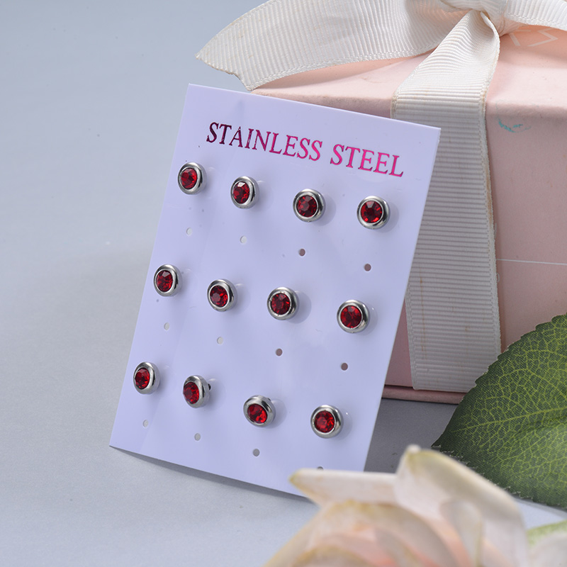 Stainless Steel Earring Sets -SSEGG126-29408