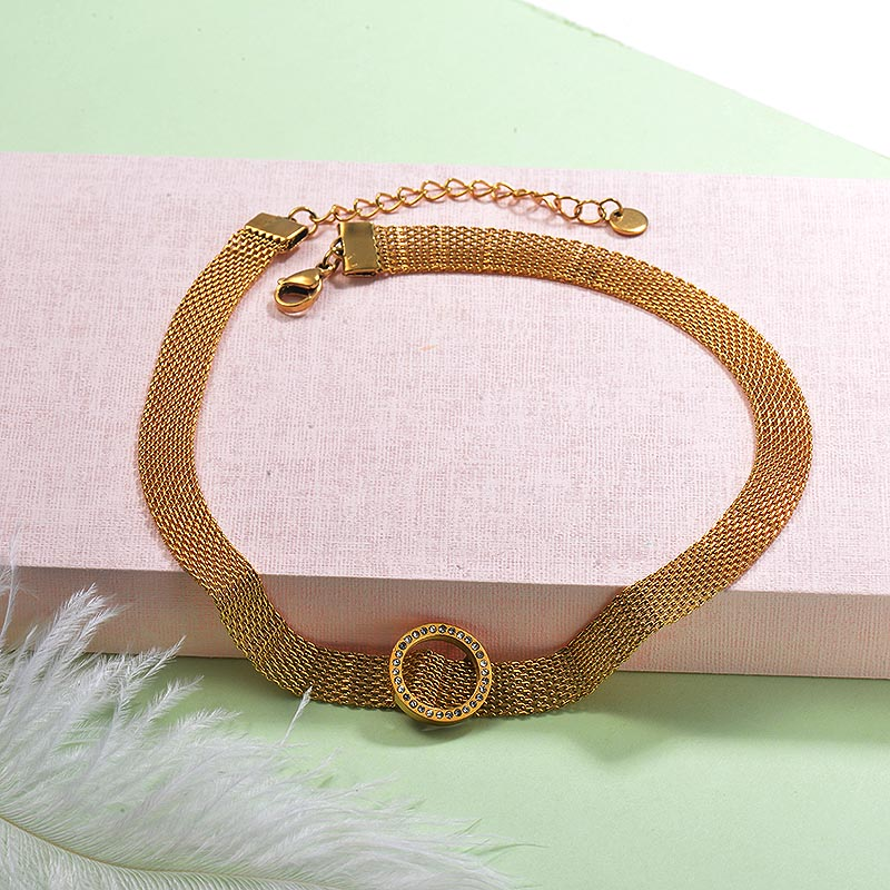 Stainless Steel Choker Necklace -SSNEG142-29246