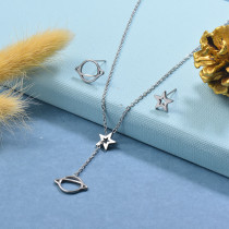 Stainless Steel Silver Jewelry Sets -SSCSG126-29516