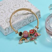 Brass Charm Bangle Bracelets for Women -BRBTG89-29384