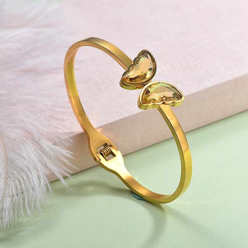 Stainless Steel Butterfly Cuff Bangles -SSBTG143-29257