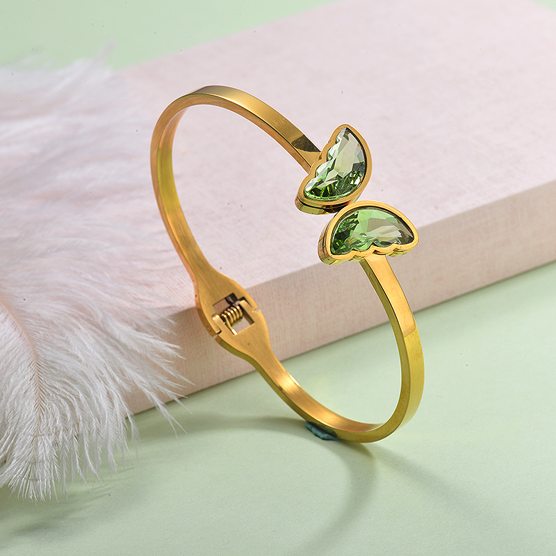 Stainless Steel Butterfly Cuff Bangles -SSBTG143-29256
