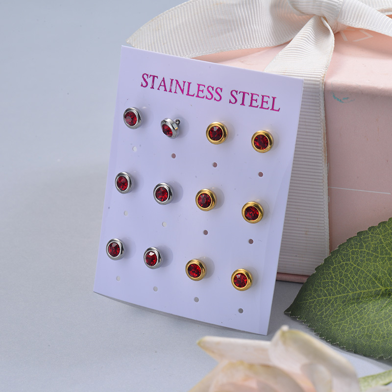 Stainless Steel Earring Sets -SSEGG126-29407