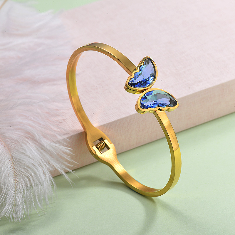 Stainless Steel Butterfly Cuff Bangles -SSBTG143-29255