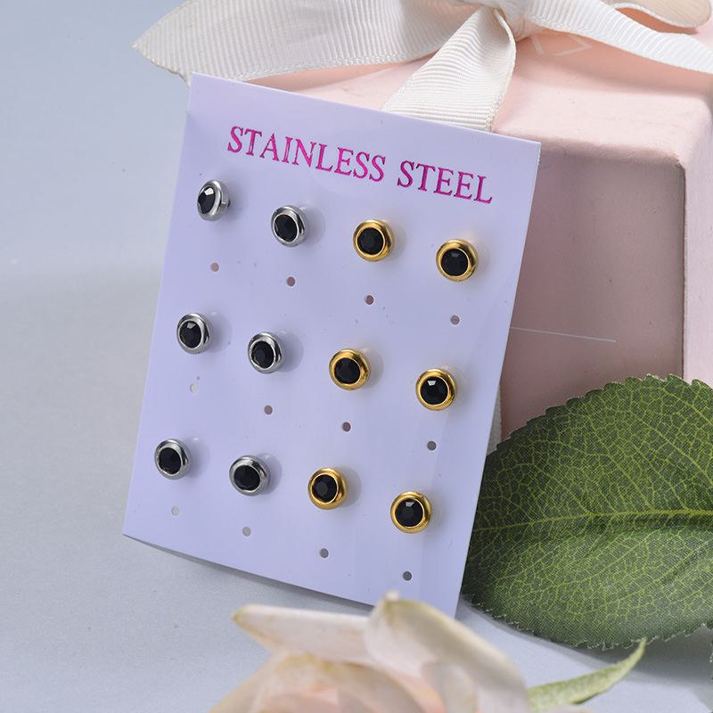 Stainless Steel Earring Sets -SSEGG126-29402