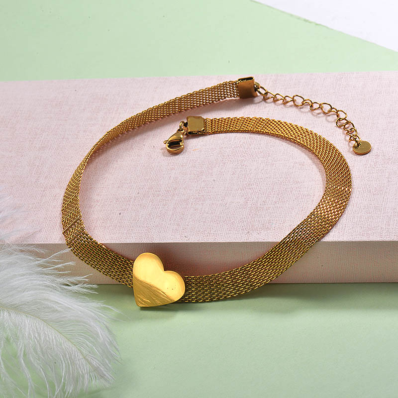 Stainless Steel Choker Necklace -SSNEG142-29245