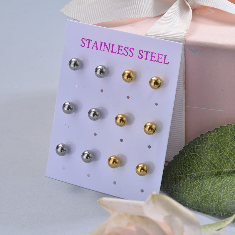 Stainless Steel Earring Sets -SSEGG126-29399