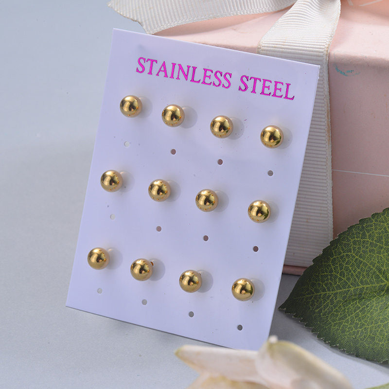 Stainless Steel Earring Sets -SSEGG126-29398