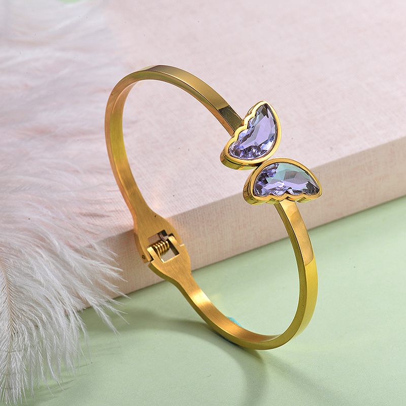 Stainless Steel Butterfly Cuff Bangles -SSBTG143-29253