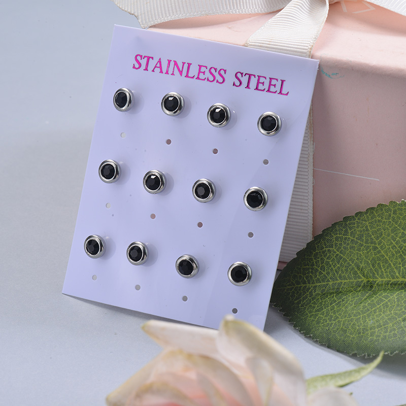 Stainless Steel Earring Sets -SSEGG126-29403
