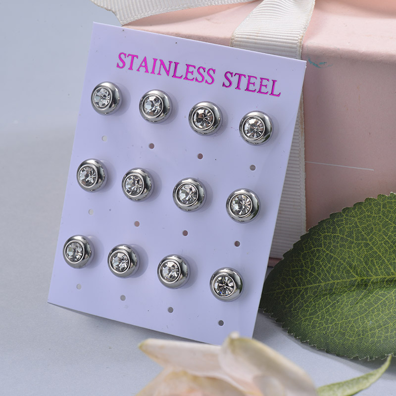 Stainless Steel Earring Sets -SSEGG126-29397