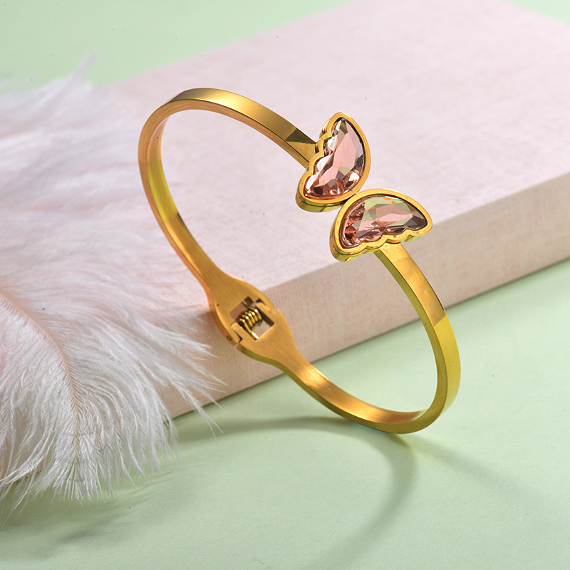 Stainless Steel Butterfly Cuff Bangles -SSBTG143-29259