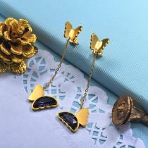 Stainless Steel Butterfly Drop Earrings -SSEGG142-29668