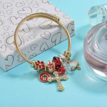Brass Charm Bangle Bracelets for Women -BRBTG89-29382