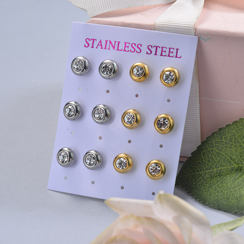 Stainless Steel Earring Sets -SSEGG126-29396