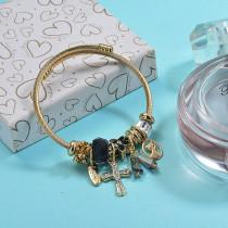 Brass Charm Bangle Bracelets for Women -BRBTG89-29385