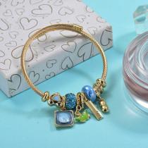 Brass Charm Bangle Bracelets for Women -BRBTG89-29381
