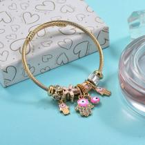 Brass Charm Bangle Bracelets for Women -BRBTG89-29377