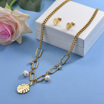 Stainless Steel Charm Necklace Sets -SSCSG142-29617
