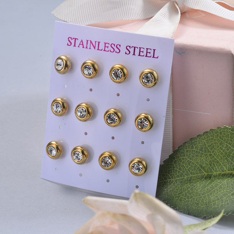 Stainless Steel Earring Sets -SSEGG126-29395