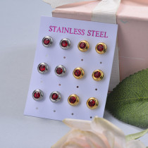 Stainless Steel Earring Sets -SSEGG126-29410