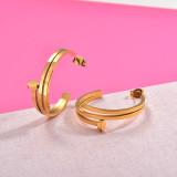 Zarcillos de Acero Inoxidable para Mujer -SSEGG157-29986
